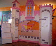Elegante castillo litera para princesas (de camas y literas infantiles kids world)