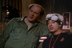 """They are drunkenly singing """"Stormy Weather"""" hahaha!M*A*S*H: Season Episode 24 Ain't Love Grand Mar. mash, Jamie Farr , Corporal Maxwell Q. Grand Tv, Mash Characters, David Ogden Stiers, Torch Song, Mash 4077, Hogans Heroes, Alan Alda, Michael Williams"""