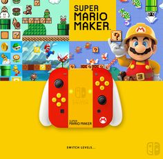 Joy Con Super Mario Maker. If U like it, follow me on Twitter ! joycon, nintendo switch, dock, joy-con Playstation, Xbox, Nintendo Controller, Nintendo Sega, Super Mario Nintendo, Super Mario Bros, Consoles, Roblox Gifts, Nintendo Switch Accessories