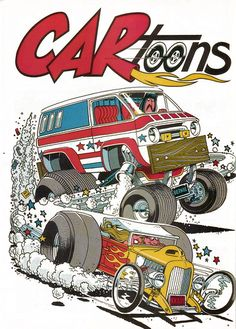 cartoons magazine artwork | Monsters in Hot Rods and other cool stuff... - HobbyTalk