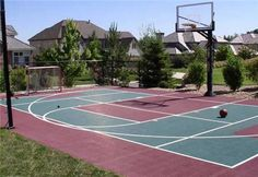 Backyard sport court options include basketball courts, tennis courts, volleyball courts and more.  LandscapingNetwork.com