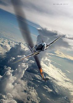 Ww2 Aircraft, Fighter Aircraft, Military Aircraft, Fighter Jets, Guerra Anime, Aircraft Painting, Airplane Art, Supermarine Spitfire, Ww2 Planes