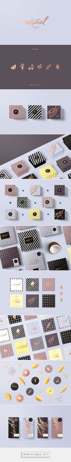The second one from the top with the little fruits could be cool.     Marmel / packaging for sweet shop by Diana Polar