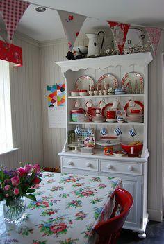 Vintage and white dresser