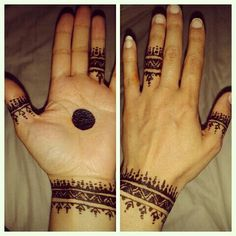 Moroccan ring and cuff design. Amber Bespoke Henna Crafts.