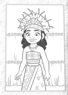 Moana Coloring Pages, Disney Princess Coloring Pages, Disney Princess Colors, Disney Colors, Colouring Pages, Printable Coloring Pages, Coloring Sheets, Coloring Books, Moana Sketches