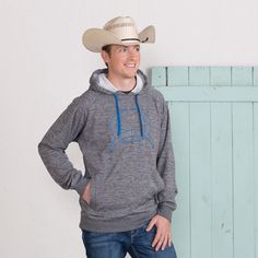 Cinch The Cowboy Way Gray Hoodie