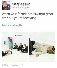I taehyung all the time when my friends start talking on a topic that doesnt interest me hahaha