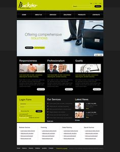 Business Flash Animated Joomla Template by Html5 Web Templates