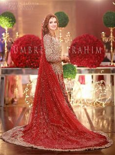 Pakistani bride by Ambreen Ibrahim Asian Wedding Dress, Pakistani Wedding Outfits, Pakistani Bridal Dresses, Pakistani Wedding Dresses, Bridal Outfits, Bridal Lehenga, Shadi Dresses, Indian Dresses, Indian Outfits