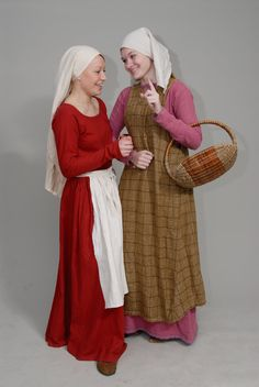 gossips by ~Antalika on deviantART--love the red kirtle and aprom