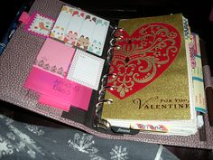 Filofax. Recycling meaningful cards as dividers.