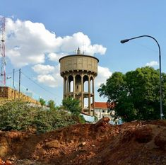 From Dortmund with Love - The Yeoville Water Tower in Johannesburg, Johannesburg City, Wide World, Water Tower, Water Supply, South Africa, Gazebo, Concrete, Journey, Outdoor Structures