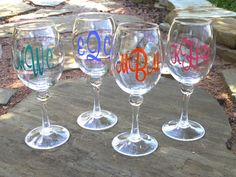 Acrylic+Wine+Glass++Personalized+by+limetreegifts+on+Etsy,+$12.00