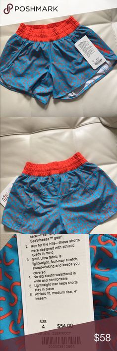 NWT ZSER LULULEMON TRACKER SHORTS SW - - Size 4 Brand: Lululemon Athletica tracker shorts III         Condition: New with tag    Size 4    Seawheeze    📌NO  TRADES  🛑NO LOWBALL OFFERS  ⛔️NO RUDE COMMENTS  🚷NO MODELING  ☀️Please don't discuss prices in the comment box. Make a reasonable offer and I'll either counter, accept or decline.   I will try to respond to all inquiries in a timely manner. Please check out the rest of my closet, I have various brands. Some new with tag, others in…