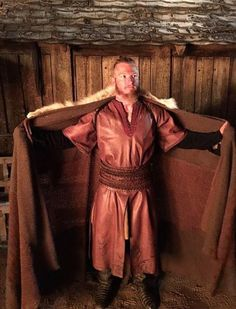 """Josh Donaldson dressed for his part in the History Channel series """"Vikings"""". He must've been a viking in a previous life!"""