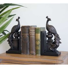 Peacock Bookends (Pair)