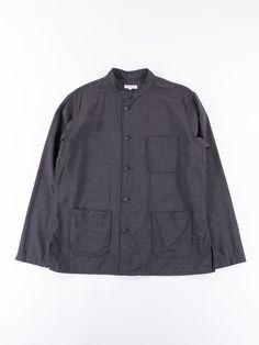 Dark Grey Tropical Wool Cordura Dayton Shirt - Image 1