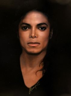 i don't know if this is a painting or a photoshop but it's gorgeous!! michael jackson.PinIt : Anónimo de Piedra