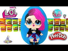 Huevo Sorpresa Gigante de L.O.L. Rocker de Plastilina Play-Doh en Español Lil Outrageous Littles - YouTube