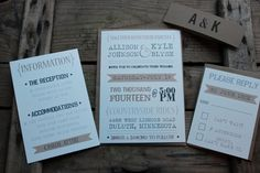 Wedding Invitation // Rustic Typography by PontoMountainPaper, $5.95