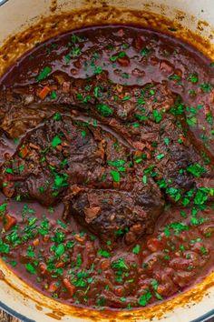 Chuck Roast Recipes, Beef Brisket Recipes, Pot Roast Recipes, Cooking Recipes, Game Recipes, Tuscan Recipes, Italian Recipes, Chuck Roast Dutch Oven, Italian Pot Roast