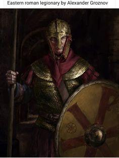Medieval Art, Medieval Fantasy, Military Art, Military History, Roman Armor, Vikings, Roman Warriors, Roman Britain, Roman Soldiers