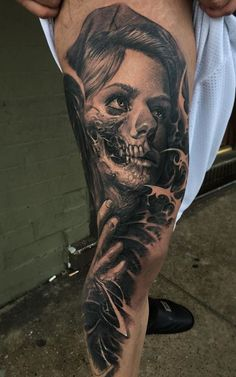 Black and Gray Leg Sleeve