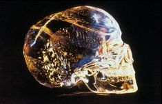 """"""" A crystal skull is a stone carving in the shape of a human skull. The sculptures vary in size from a few inches to life-size. Some are made of pure quartz crystal, but many are made of other types. Ancient Aliens, Crystals And Gemstones, Stones And Crystals, Crane, Native American Legends, Grandeur Nature, Skull Mask, Mesoamerican, Ufo Sighting"""