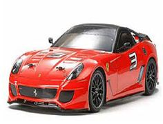 The Tamiya R/C Ferrari 599XX in 1/10 scale is the latest in the on-road radio controlled car series of Tamiya new releases on the TT-01E chassis.    The Ferrari 599XX is an extreme circuit-only automobile which features exceptional performance with an aggressive and aerodynamic body. Tamiya's R/C replica is reproduced as a 1/10 scale R/C model on the fun-to-drive entry level assembly kit, TT-01 Type-E chassis.