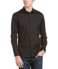 f63a329c6ee1f Big Men s Long Sleeve Woven Canvas Shirt