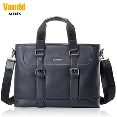 Aliexpress.com : Buy Vandd Men's Black Genuine Leather Document Bag Briefcase Zipper Pocket Tote Handbag Detachable Messenger Strap from Reliable mens casual belts suppliers on Vandd Men. $164.00