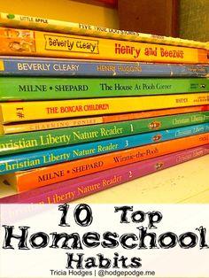10 Successful Homeschool Habits at Hodgepodge