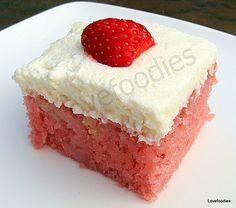 Strawberry & coconut cake