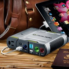 Stay Connected on the Road, off the Grid, or Out of the Country with a Powerful, Portable Battery That Will Charge All Your Electronic Devices!