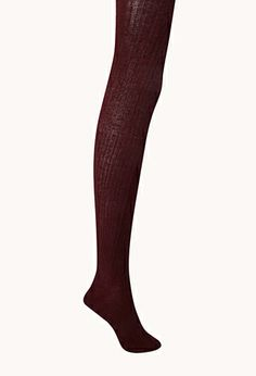 FOREVER21 Classic Ribbed Sweater Tights. I must have some maroon/burgundy sweater tights! <3