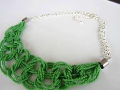 AliExpress seed beads necklace DIY. Колье из бисера и цепочки