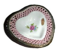 Hey, I found this really awesome Etsy listing at https://www.etsy.com/listing/217074015/vintage-porcelain-heart-rose-vanity-tray