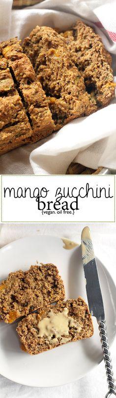 vegan mango zucchini bread | love me, feed me