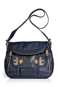 MARC BY MARC JACOBS  Darkest Teal Leather Natasha Shoulder Bag 440€