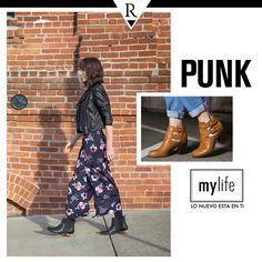 ¡ #Punk en estado puro! Uno de los elementos básicos de esta #tendencia son los botines de cuero. Sumarán un extra de actitud a cualquiera de tus looks. ¡Descubre aún más en www.mylife.com.pe! #MyLife