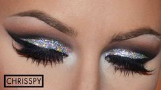 Holographic silver and a black crease