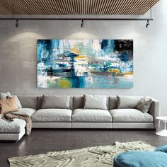 Gold Canvas, Canvas Art, Abstract Art For Sale, Image Digital, Extra Large Wall Art, Office Wall Decor, Large Painting, Etsy, Painted Canvas