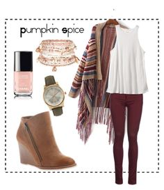 Pumpkin Spice by meganite on Polyvore featuring polyvore, fashion, style, RVCA, 8, Accessorize, BKE and clothing