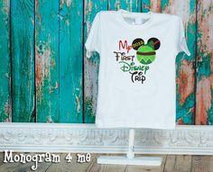 My First Disney Trip Shirt Peter Pan Birthday by monogram4me
