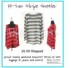 Comfortable everyday or weekend sweater. Pair with jeans or leggings and boots!