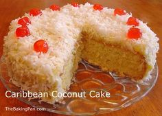 Caribbean Coconut Cake