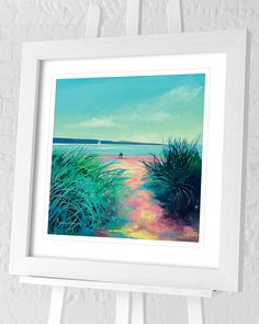 New for July - Denise Di Battista Framed Art Prints Seascape Paintings, Landscape Paintings, Contemporary Landscape, Paper Roses, New Artists, Natural World, Framed Art Prints, Wall Art, Artwork