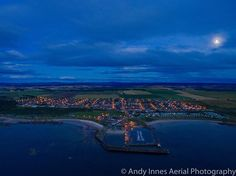 Dusk over Hopeman on the Moray Firth   Hopeman Hopeman Gala Hopeman Harbour West Beach Caravan Park #drone  #video #dji #inspire2 #uav #usingdrones