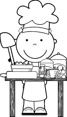 Science Coloring Pages for Preschoolers Beautiful Chef Cooking Free Kids Coloring Page Preschool Cooking, Preschool Art, Cooking With Kids, Free Kids Coloring Pages, Coloring For Kids, Coloring Books, Coloring Sheets, Chef Images, Community Helpers Preschool